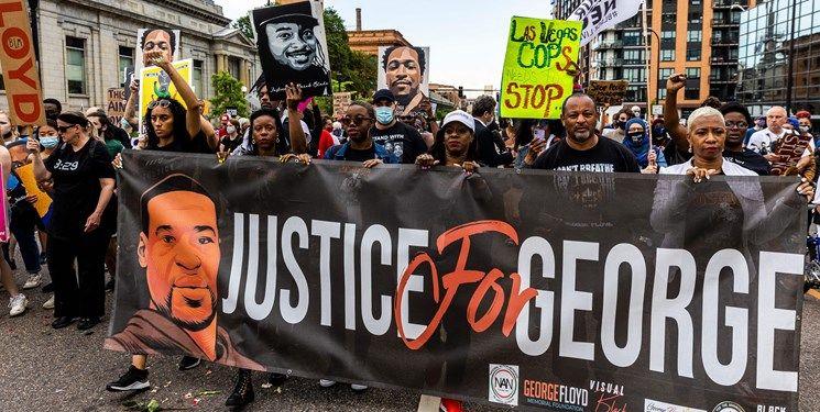 تجمع و راهپیمایی به مناسبت اولین سالگرد قتل فلوید در «مینیاپولیس»