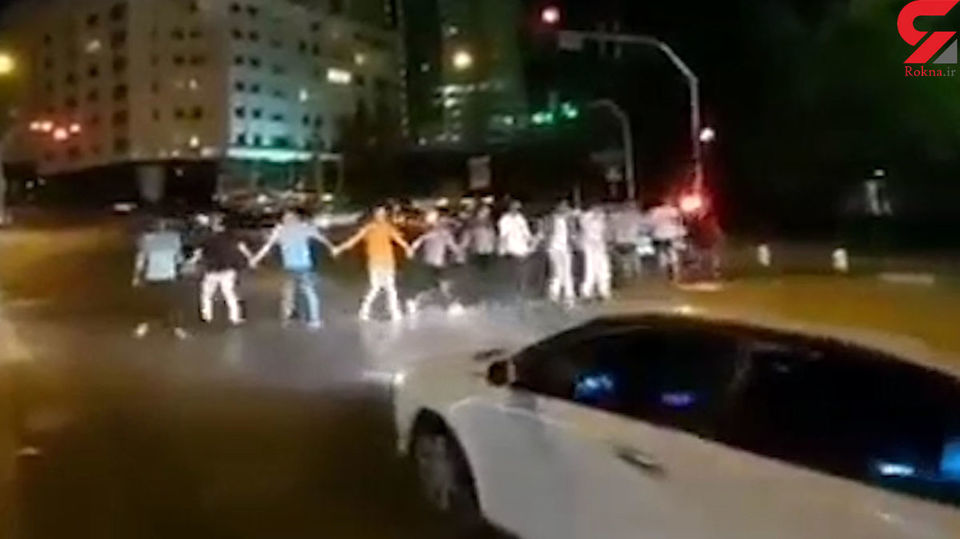 رقص دسته جمعی جنجالی در شهرک غرب+عکس