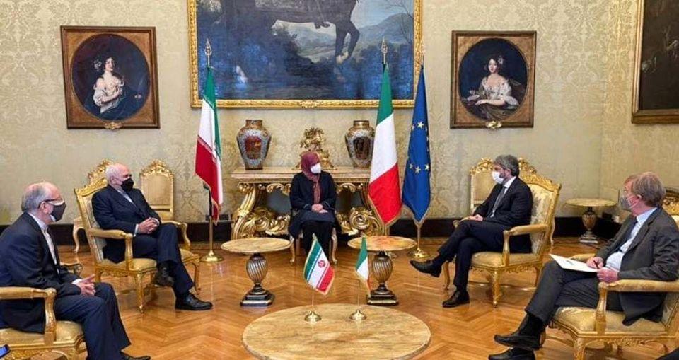 ظریف با رییس مجلس نمایندگان ایتالیا دیدار کرد